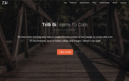 Trilli Bi - Fullscreen Landing Page
