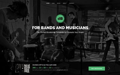 Decibel | Band/Musician (Bootstrap 4)