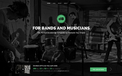 Decibel - Band/Musician (Bootstrap 4)