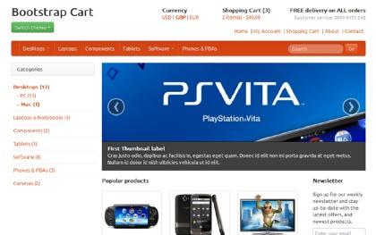 Bootstrap Shopping Cart