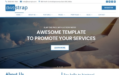 bizStrap - Multipurpose Template Screenshot
