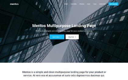 Mentos - Multipurpose Landing Page