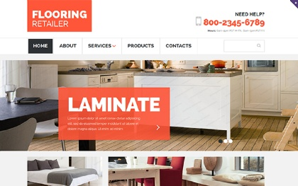 Flooring Retailer - Responsive Template