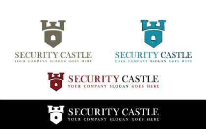 Security Castle Logo Template