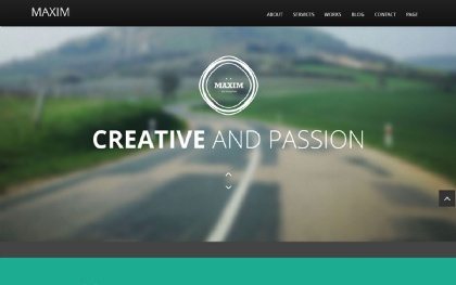 Maxim - Flat Scroll One Page Theme