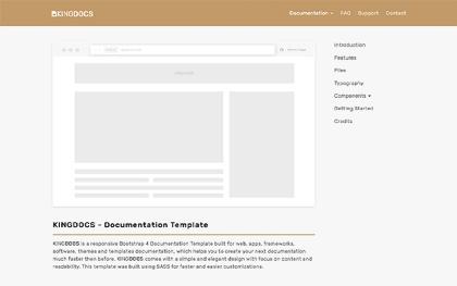 KingDocs - Documentation Template