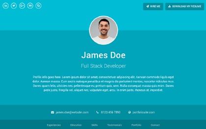 Resume HTML Site Templates