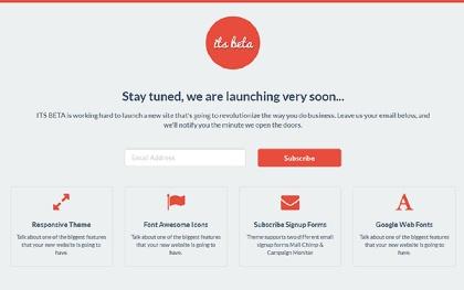 ITS BETA - Landing Page
