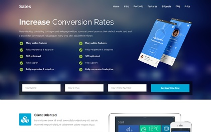 Sales - Multipurpose Landing Page