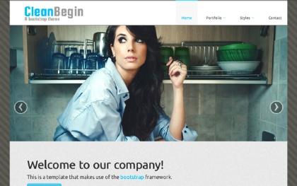CleanBegin - Company Template