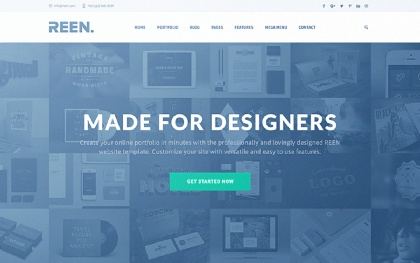 REEN - Made for Designers One/Multi Page Screenshot
