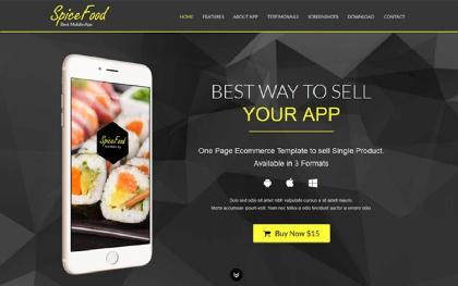 Mini-E-Stores - One Page E-Shop Template