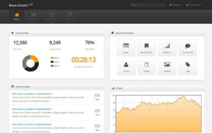 Base Admin - Admin Template Screenshot