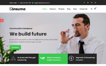 Consuma - Bootstrap4  Business Template
