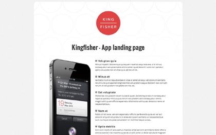 Kingfisher - App Landing Page