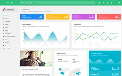 Material Admin - Responsive Admin Theme Screenshot