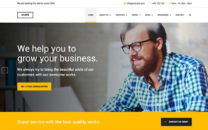 Bootstrap Business & Corporate Templates   WrapBootstrap