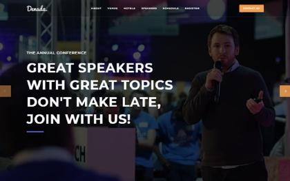 Denada - Conference & Event Landing Page