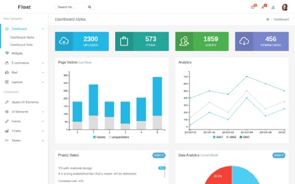 Float - Responsive Admin Template
