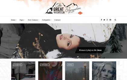 Oymyakon - WordPress Blog Theme