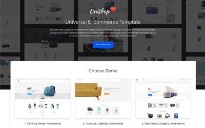 Unishop - Universal E-Commerce Template Screenshot