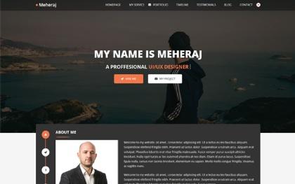 Meheraj - Portfolio & Resume Template