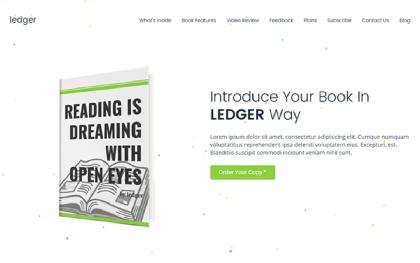 Ledger - Book Landing Page