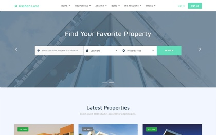 Osahan Land - Bootstrap 4 Light Theme