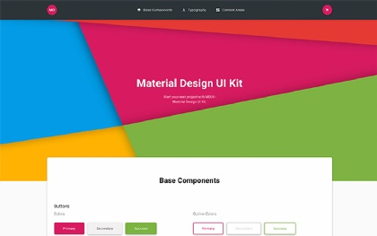 MDUI - Material Design UI Kit