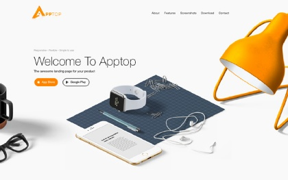 Apptop - Mobile App Landing Template