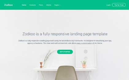 Zodkoo - Landing Page Template
