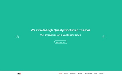 THE3 - Responsive One Page Template