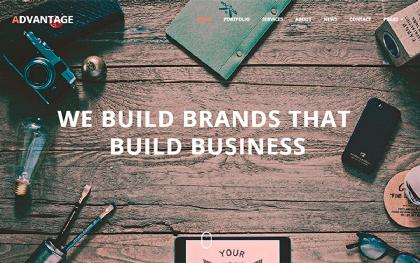Advantage - One Page Business Theme