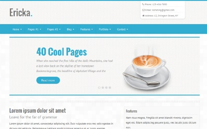 40 Pages - 6 Colors - Responsive Theme