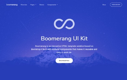 Boomerang - Multipurpose Bootstrap Theme Screenshot