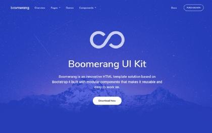 Boomerang - Multipurpose Bootstrap Theme