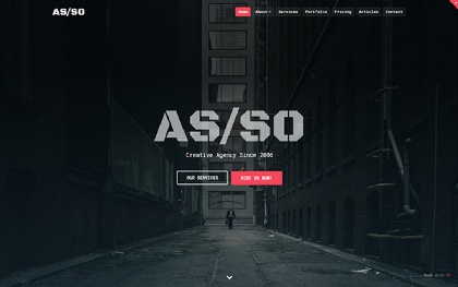 Asso - One Page HTML5 Website Template