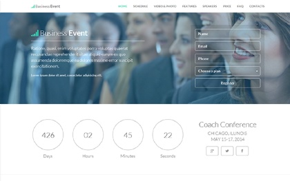 Business Event - Responsive Landing Page