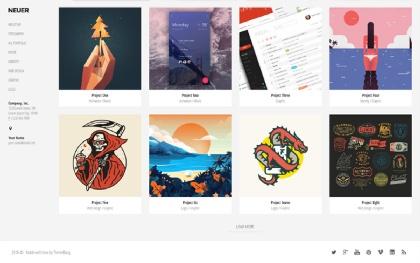 Neuer - Creative Portfolio Template