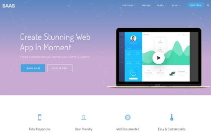 Saas website template saasapp webappsoftwaresaas product template.
