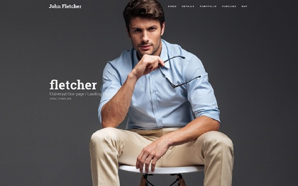 Fletcher - Personal Landing Page HTML