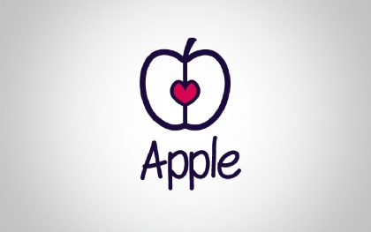 Apple Food Logo