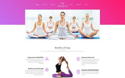 Blossom - Health and Yoga WP Theme