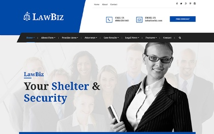 LawBiz - Lawyer Attorney Html Template