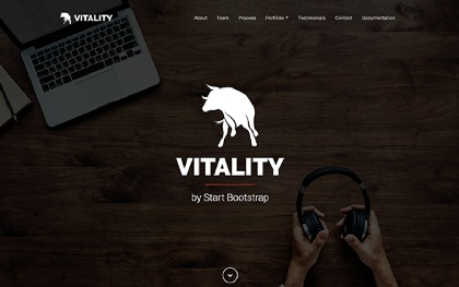 Vitality - One Page Bootstrap 4 Theme Screenshot