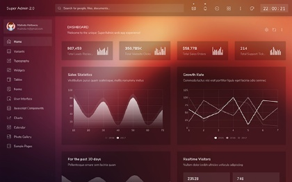 Super Admin - Responsive Admin Template Screenshot