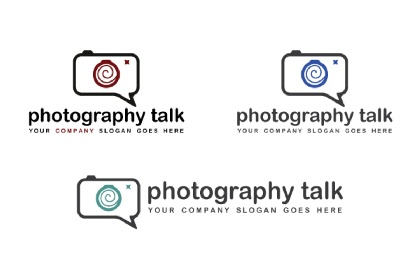 Photography Talk Logo Tempalte