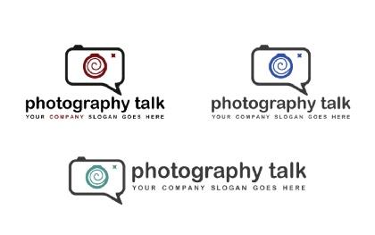 Photography Talk Logo Tempalte