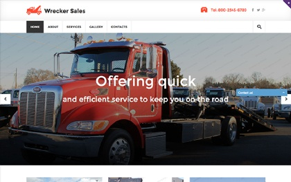 Wrecker - Responsive Website Template