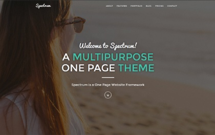 Spectrum - Multipurpose Parallax Theme